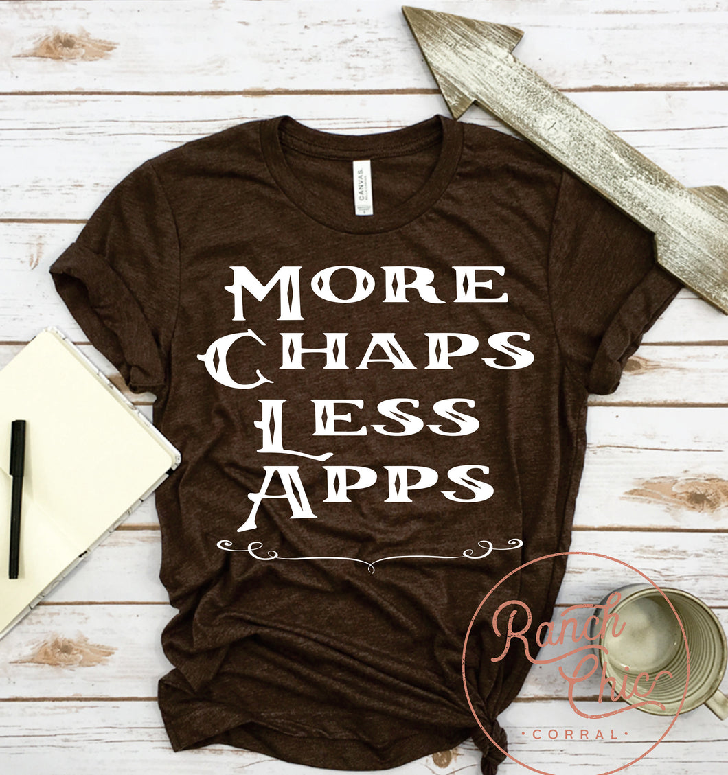 More Chaps Less Apps