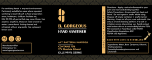 BGorgeous Hand Sanitiser 500ml