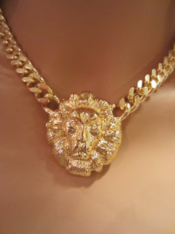 Mens Gold Lion Head Necklace ELVIS PRESLEy. *** ATTENTIoN*** Fast ***FREE** SHIPPING***HURRy******