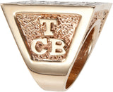 TCB side of the Golden Pyramid T.C.B. Ring.