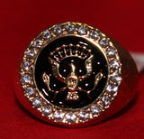 Center of ring with eagle.