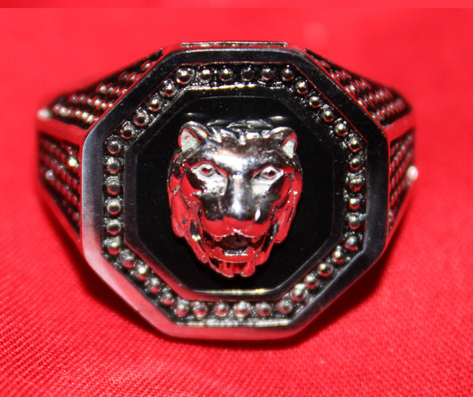 OCTAGOn LIoN Head RinG like ELVIS PRESLEy wore ***ATTENTIOn*** FASt***FREE***SHIPPING** HURRy !!!