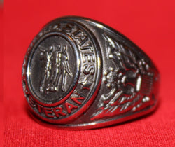 Close up of the Veteran's Tribute Ring.