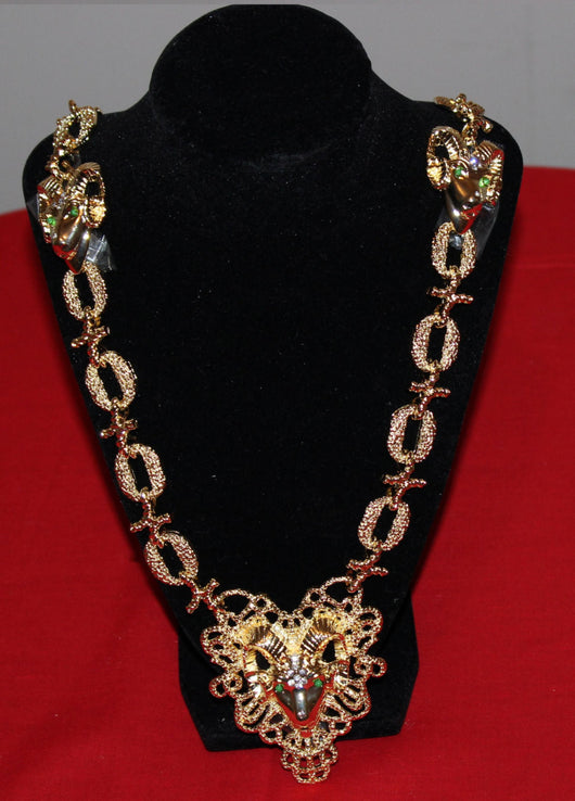 World Premere ---Original  ELVIS PRESLEY RAMS Head Necklace  only a few left