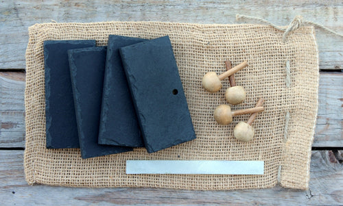 Natural Slate Name Plates/Place Settings (Set of 4)