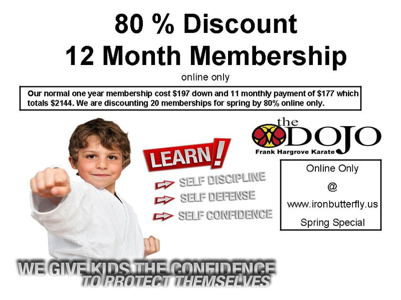 80% Discount on Karate-Do Training! WHY?