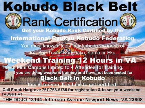 Kobudo Black Belt Rank Certification