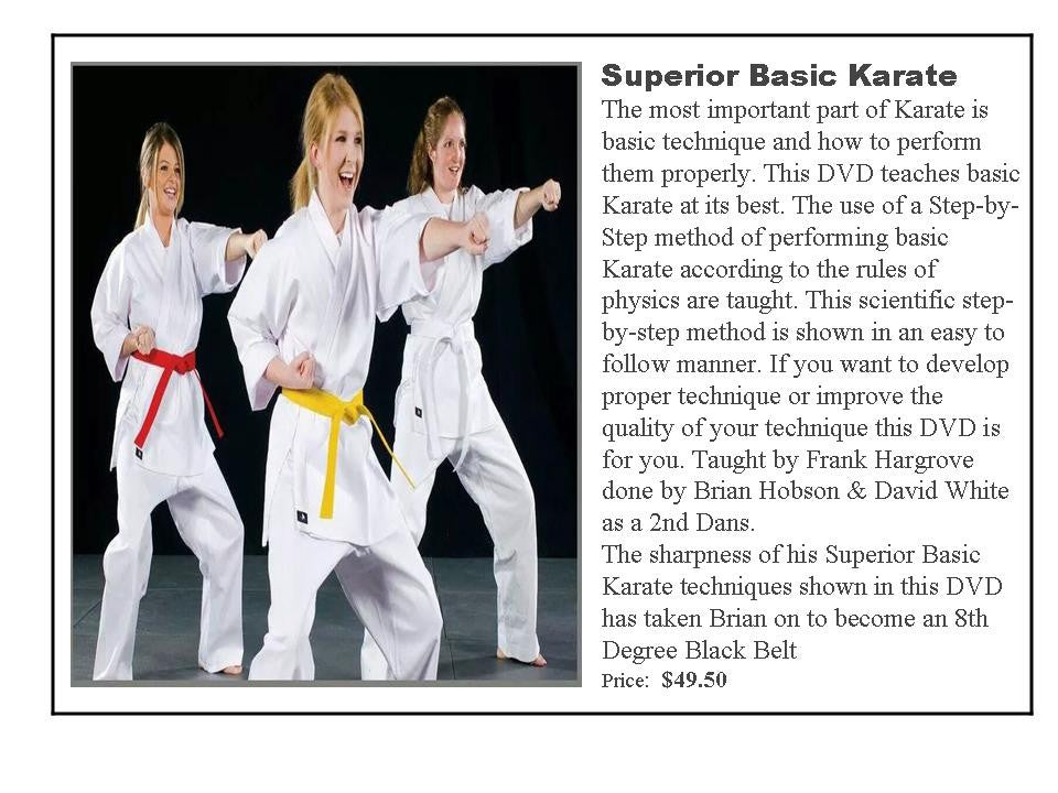 Superior Basic Karate DVD