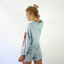 Daydreaming Rose Denim top