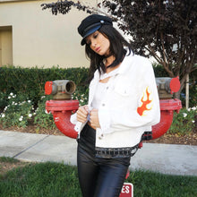 Light My Fire White Denim Jacket