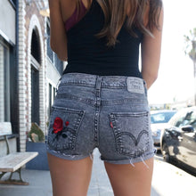 In Bloom Levi's Rose Black Denim Shorts