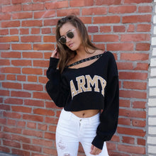 Join My Army Crop Strap Sweatshirt