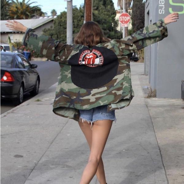 Paint It Black Rolling Stones Camo Jacket