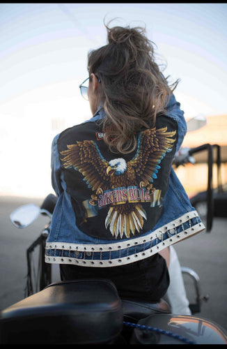 Feel The Need For Speed Chain Denim Jacket