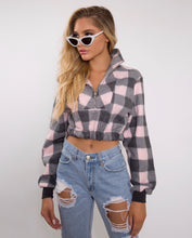 Pretty In Pink Cropped Flannel