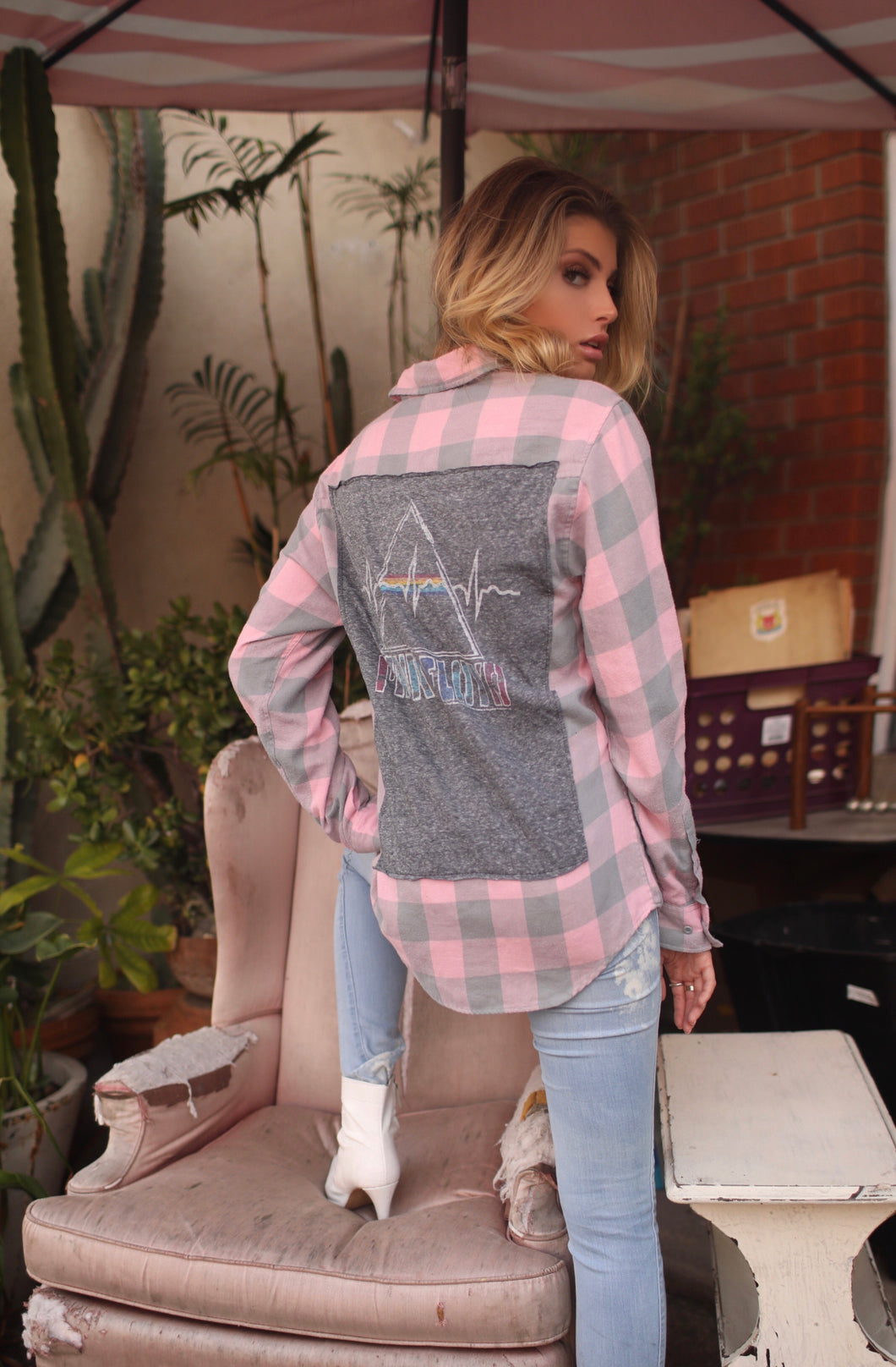 Falling For You Pink Floyd Vintage Flannel