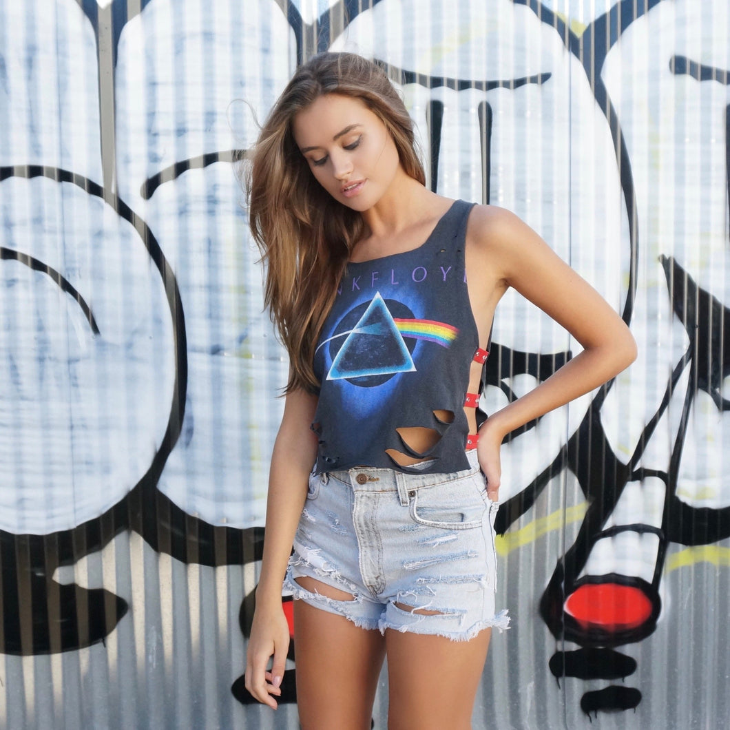 Im Over The Moon Pink Floyd Strap Tee