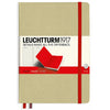 LEUCHTTURM1917 RULED A5 HARDCOVER NOTEBOOK - BICOLORE SAND-RED