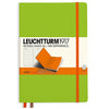 LEUCHTTURM1917 RULED A5 HARDCOVER NOTEBOOK - BICOLORE LIME-ORANGE
