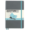 LEUCHTTURM1917 RULED A5 HARDCOVER NOTEBOOK - BICOLORE ANTHRACITE-LIGHT BLUE