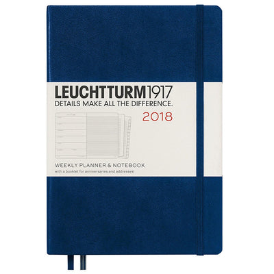Leuchtturm1917 A5 2018 Weekly Planner & Notebook - Navy