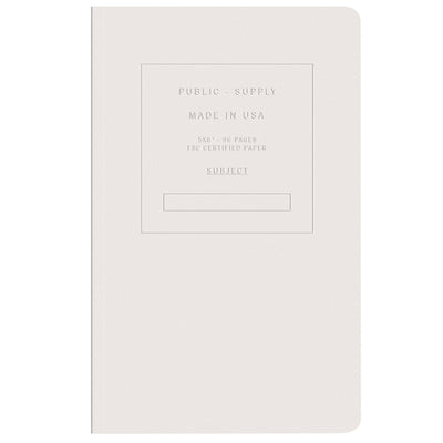 Public Supply Embossed Collection - White