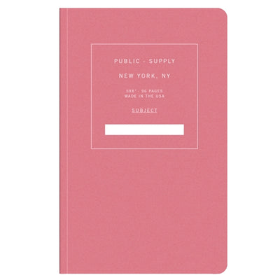 Public Supply 5x8 Notebook - Rose