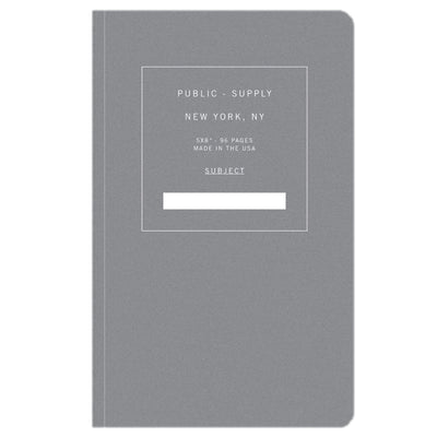 Public Supply 5x8 Notebook - Grey