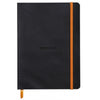 Rhodiarama Softcover A5 Lined Notebook Black