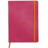 Rhodiarama Softcover A5 Lined Notebook Raspberry