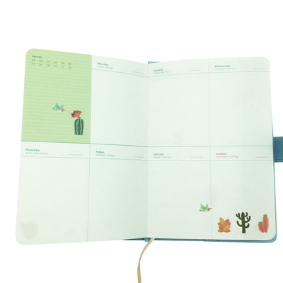 Blue Planner with Button