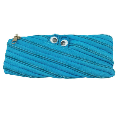 Googly Eyes Zipper Pencil Case - Blue