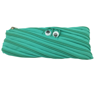 Googly Eyes Zipper Pencil Case - Turquoise