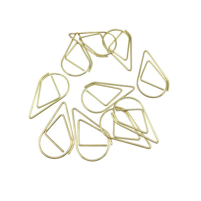 Rain Drop Paper Clips - Gold