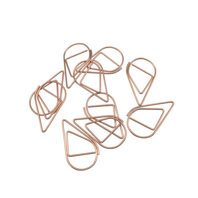 Rain Drop Paper Clips - Copper