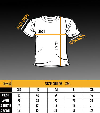 Fightlab Shirt Size Guide