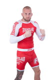 "Muay Thai MMA K1 ""Impact"" Rash Guard Red"