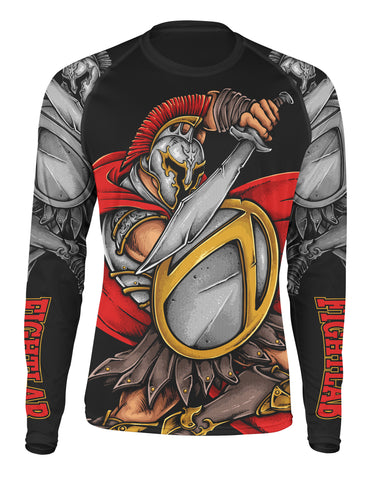 "Muay Thai MMA K1 ""Spartan Warrior"" Rash guard"