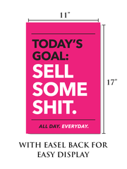 Pink Motivational Poster with Easel Back for Easy Display