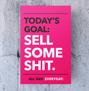 Business Office Motivational Poster - Pink