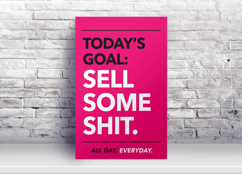 Pink Office Motivational Poster