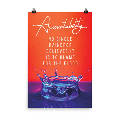 Demotinational Poster about Accountability