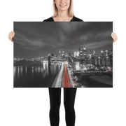 Wide Citylight Wall canvas