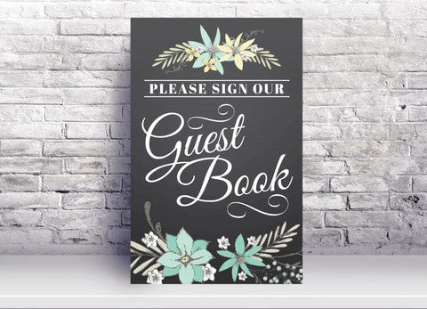 Please sign the Guest Book Sign