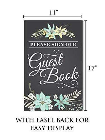 Guest Book Signage with Easel Back