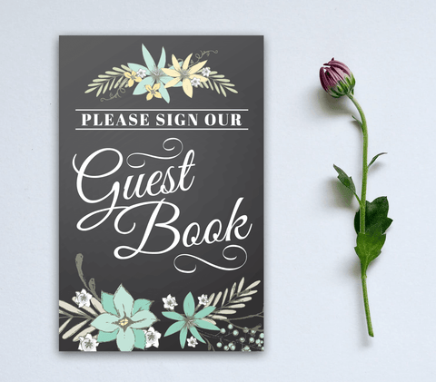 Lovely font Guest Book Signage