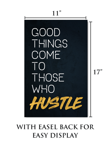 Motivational Wall Art with Easel Back