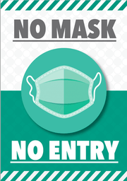 Safety sign about mask