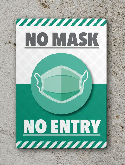 No mask No Entry Sign