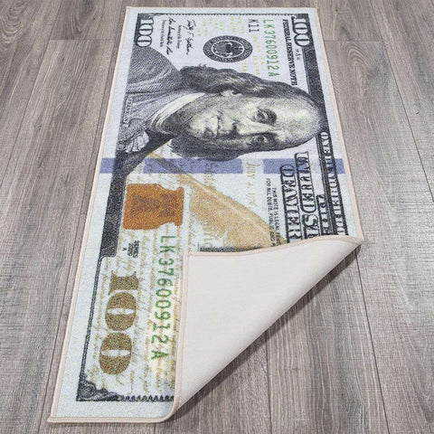 Rug with Dollar Design